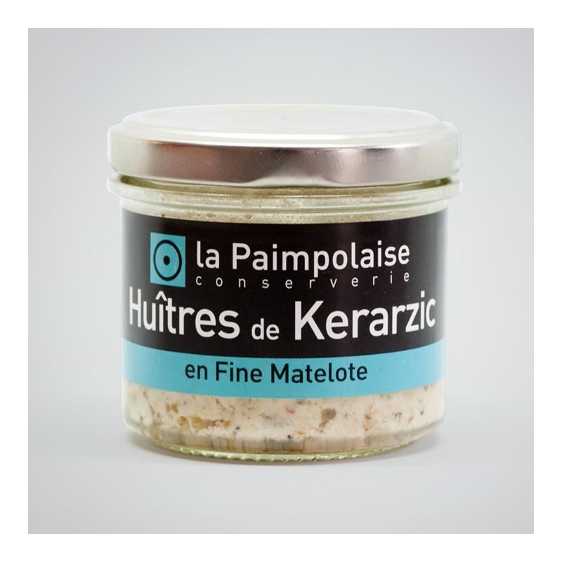 Huître de Kerarzic en fine matelote la Paimpolaise conserverie