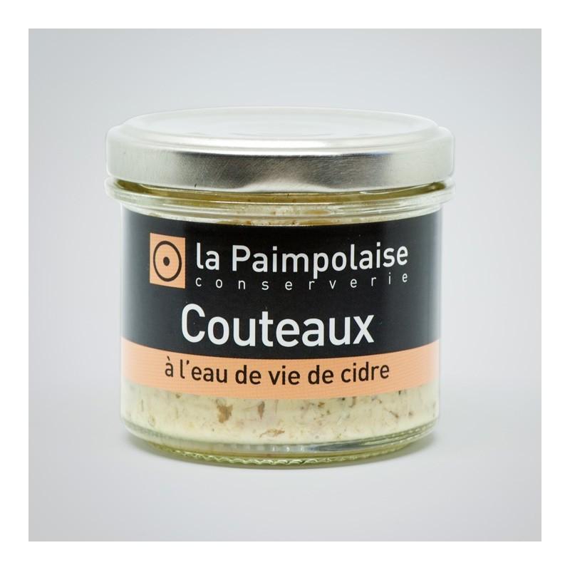 Tartinable de Couteaux à l'eau de vie de cidre La Paimpolaise Conserverie