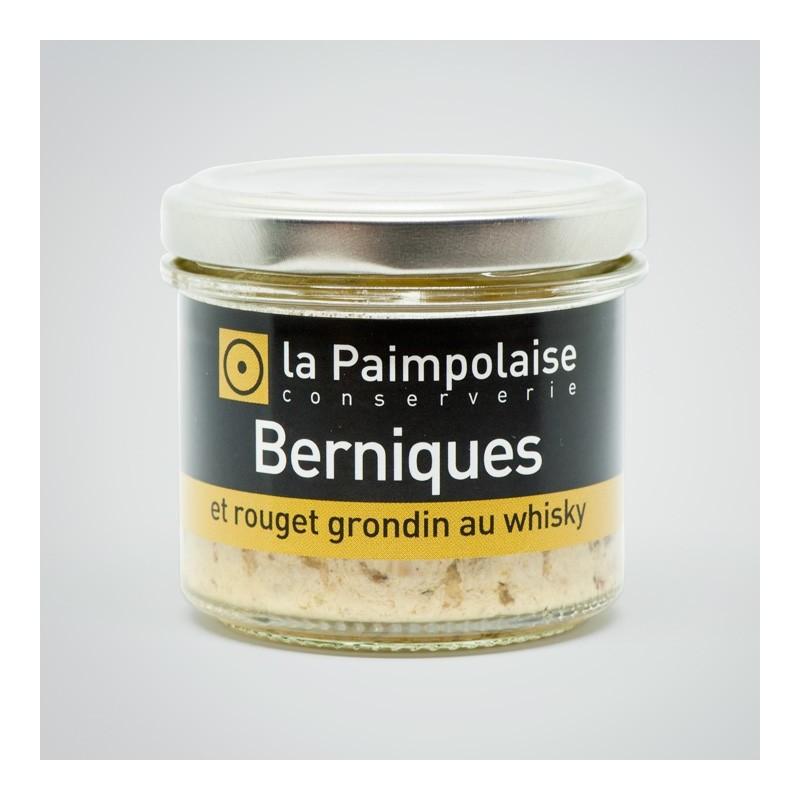 Tartinable de berniques et rouget grondin au whisky La Paimpolaise Conserverie