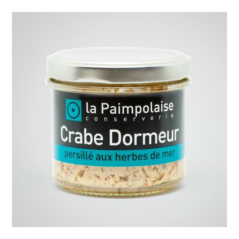 Crabe dormeur persillé aux herbes de mer la Paimpolaise conserverie