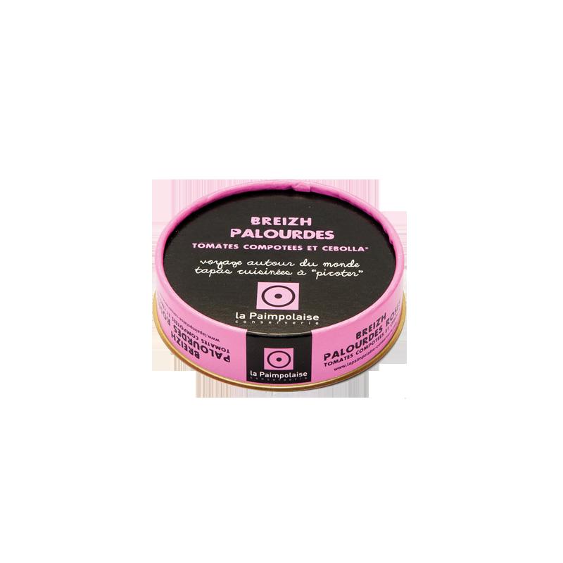 Tapas de Palourdes, tomates compotees et cebolla, La Paimpolaise-conserverie