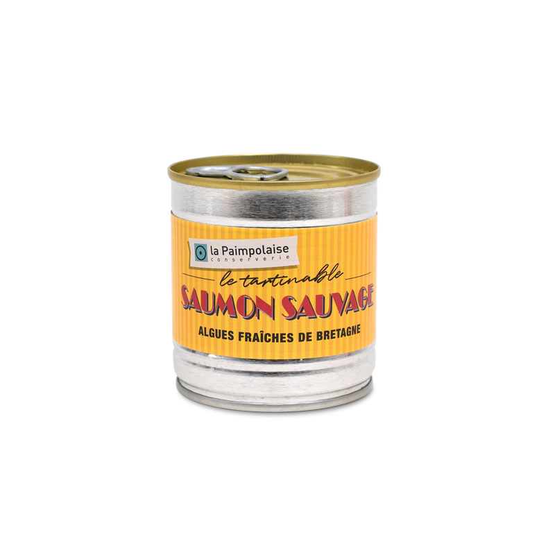 Saumon sauvage, algues fraîches de Bretagne